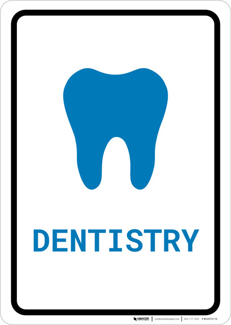 Dentistry with Icon Portrait v2 - Wall Sign