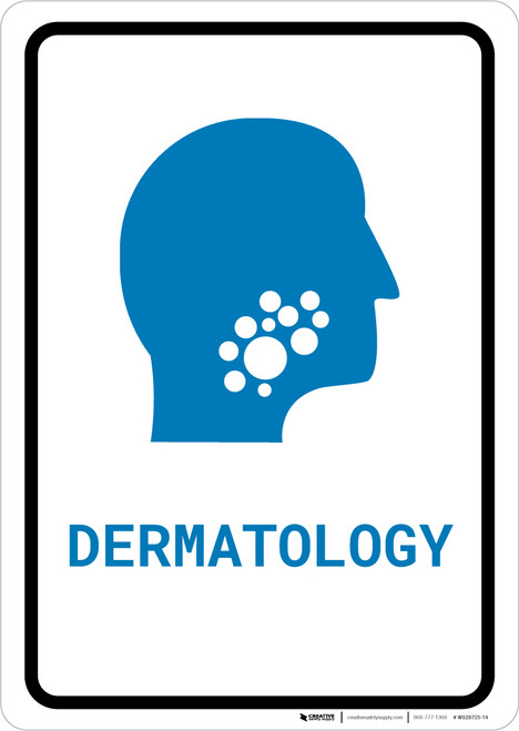 Dermatology with Icon Portrait v2 - Wall Sign