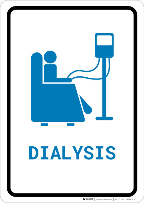 Dialysis with Icon Portrait v2 - Wall Sign