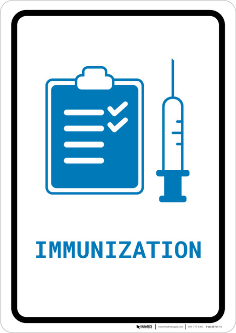 Immunization with Icon Portrait v2 - Wall Sign