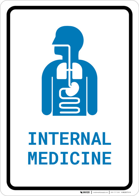 Internal Medicine with Icon Portrait v2 - Wall Sign
