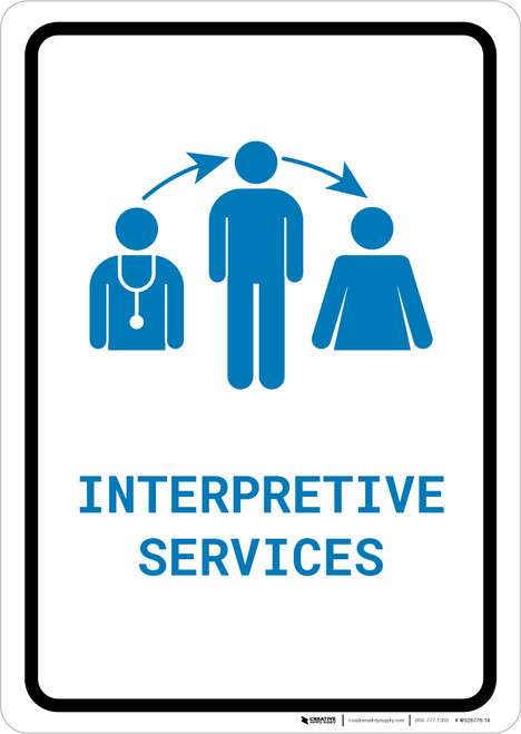 Interpretive Services with Icon Portrait v2 - Wall Sign