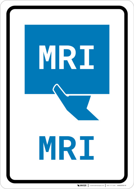 MRI with Icon Portrait v2 - Wall Sign