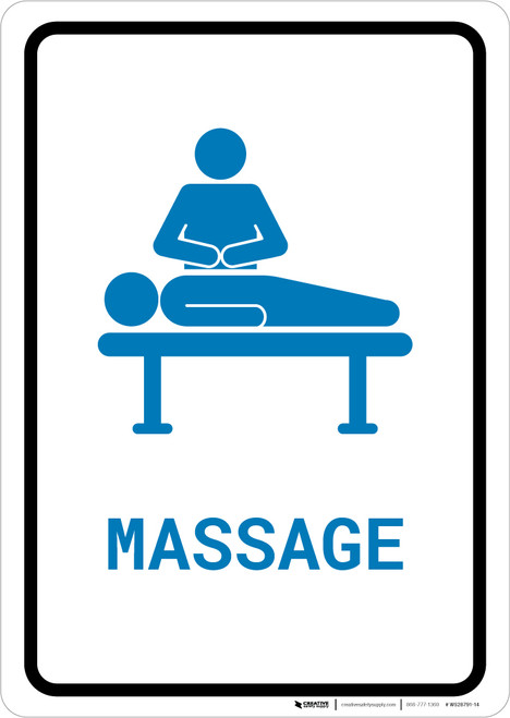 Massage with Icon Portrait v2 - Wall Sign