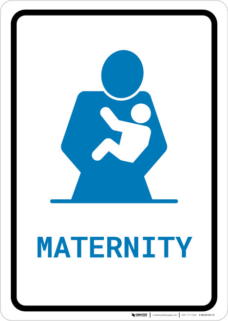 Maternity with Icon Portrait v2 - Wall Sign