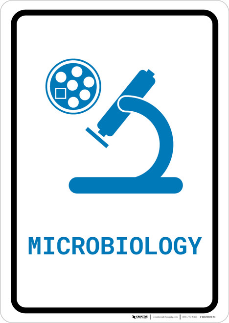 Microbiology with Icon Portrait v2 - Wall Sign