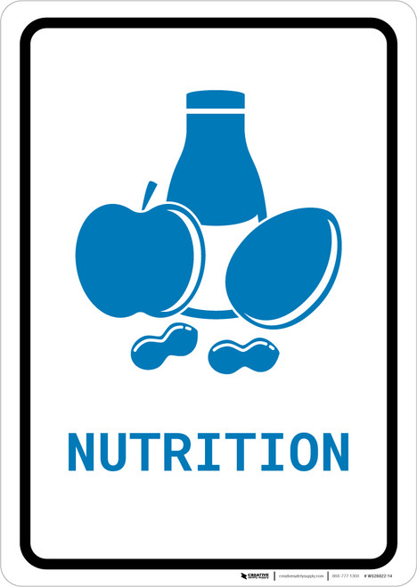 Nutrition with Icon Portrait v2 - Wall Sign