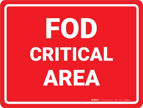 FOD Critical Area - Floor Marking Sign