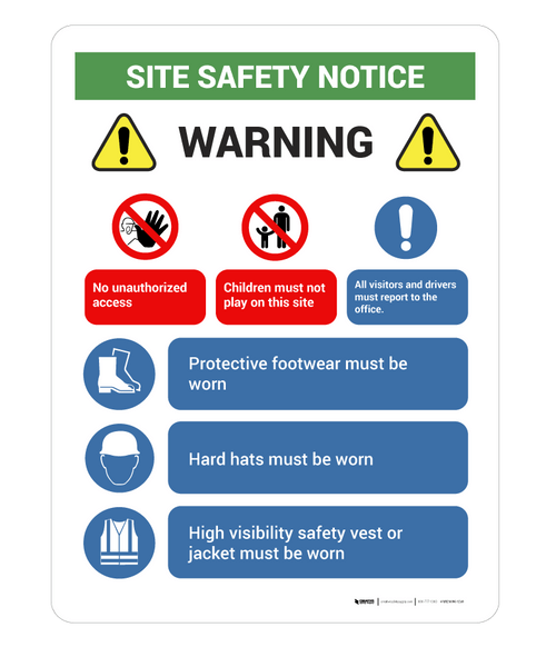 Safety Site Notice - Wall Sign