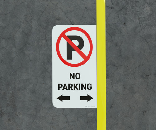 No Parking with Arrows - Floor Marking Sign