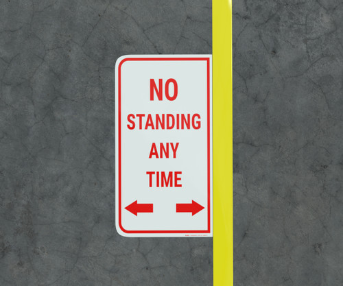 No Standing Any Time - Floor Marking Sign