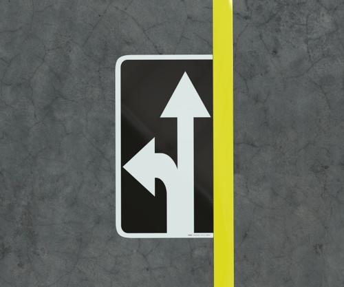 Straight Left - Floor Marking Sign