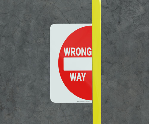 Wrong Way - Floor Marking Sign