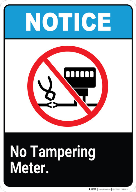 Notice: No Tampering Meter - Wall Sign