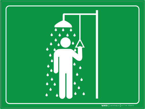 Emergency Shower - Floor Marking Sign