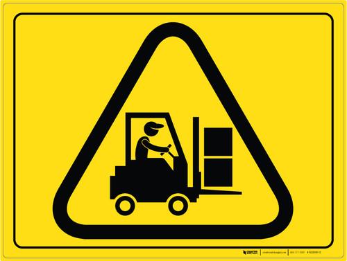 Forklift Traffic - Floor Marking Sign