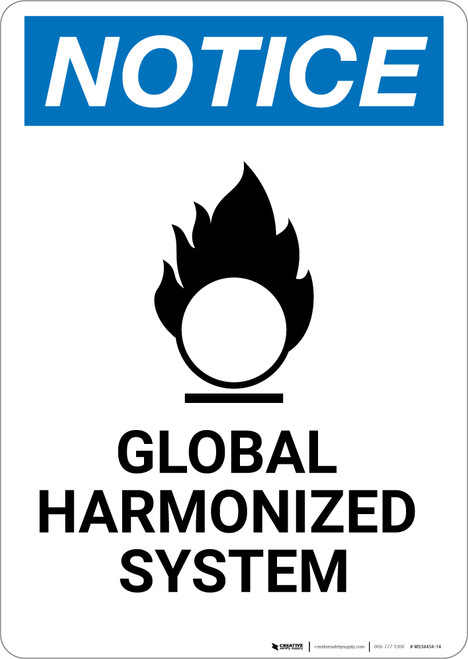 Notice: Global Harmonized System - Wall Sign