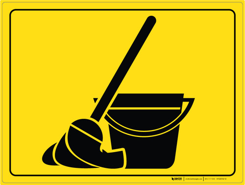 Mop and Bucket - Floor Marking Sign