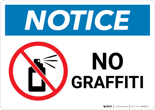 Notice: No Graffiti with Symbol - Wall Sign