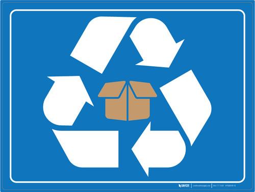 Cardboard Recycling - Floor Marking Sign