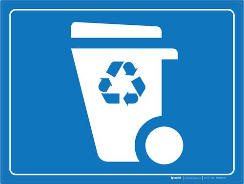 Recycling Bin - Floor Marking Sign