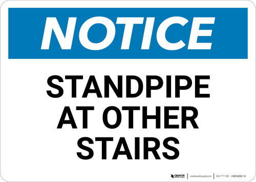 Notice: Standpipe At Other Stairs - Wall Sign