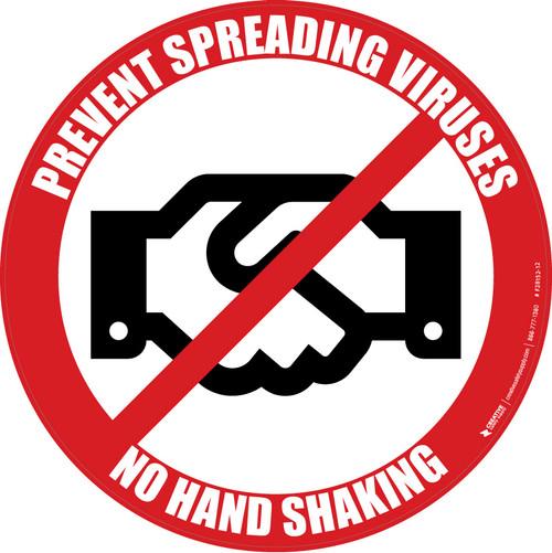 Prevent Spreading Viruses - No Hand Shaking - Floor Sign