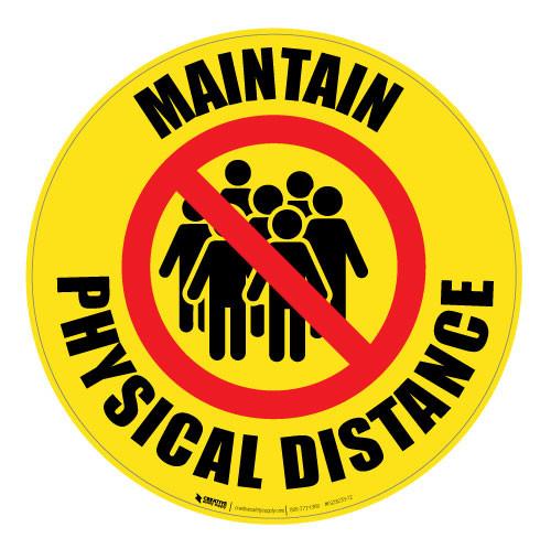 Maintain Physical Distance - Floor Sign