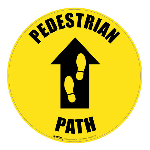 Pedestrian Path - Floor Sign
