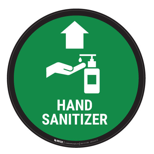 Hand Sanitizer - Floor Sign