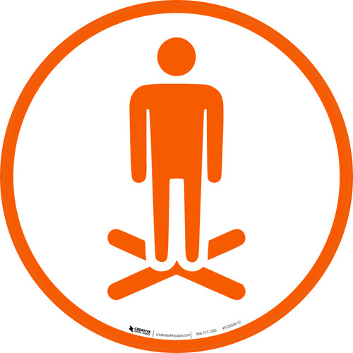 Stand Here Icon Only - Floor Sign