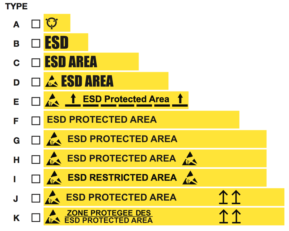 ESD Floor Tape Selection