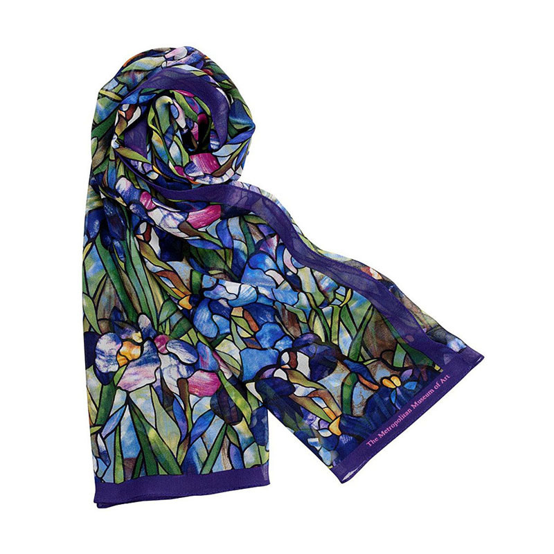 Louis C. Tiffany Iris Scarf