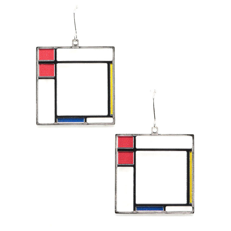 Mondrian Composition Earrings