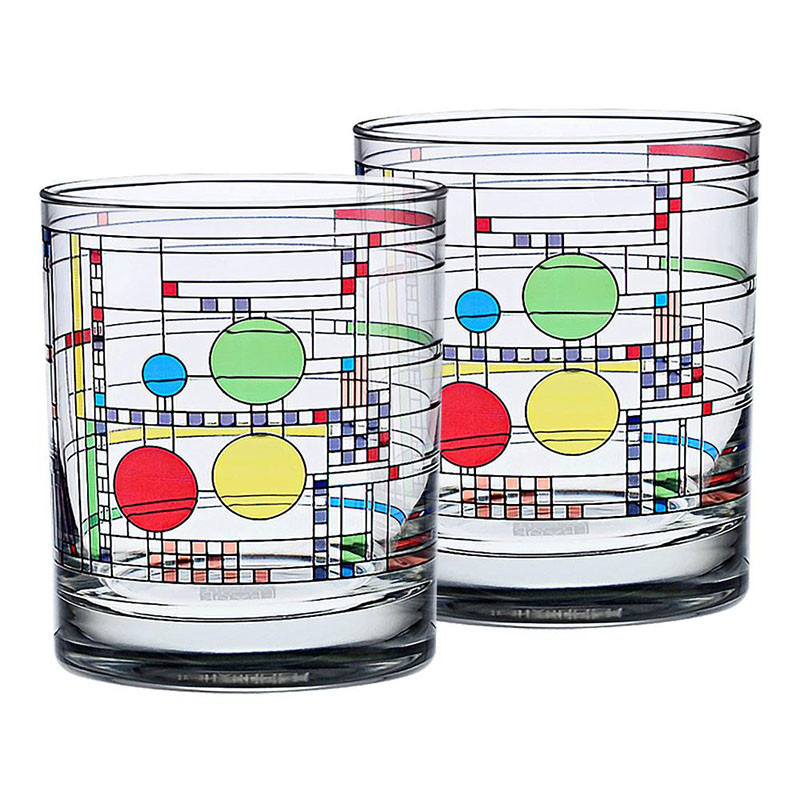 Frank Lloyd Wright Coonley Playhouse DOF Glasses (Set of 2)