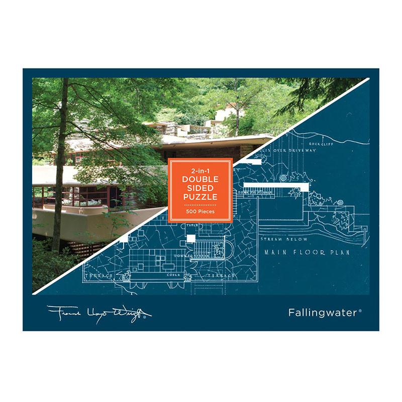 Frank Lloyd Wright Fallingwater 2-Sided 500 Piece Jigsaw Puzzle