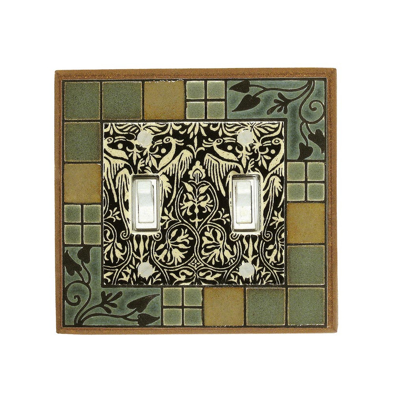 Arts & Crafts Switchplate - Double Toggle
