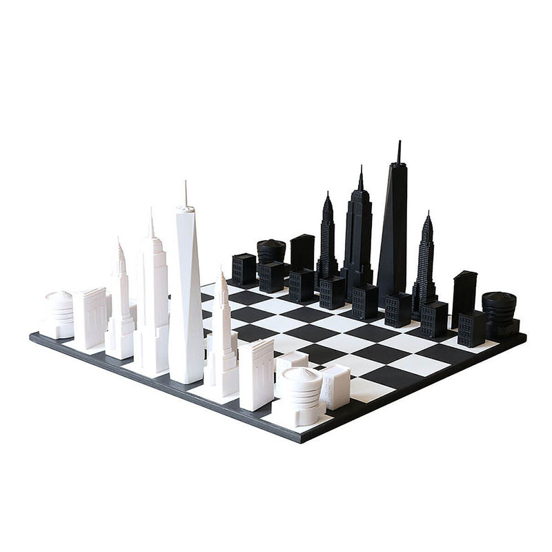 New York City Skyline Chess Set