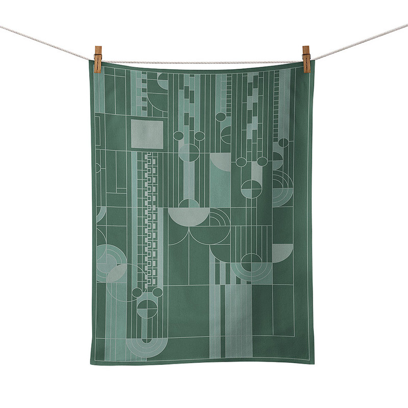 Frank Lloyd Wright Saguaro Forms Jacquard Tea Towel