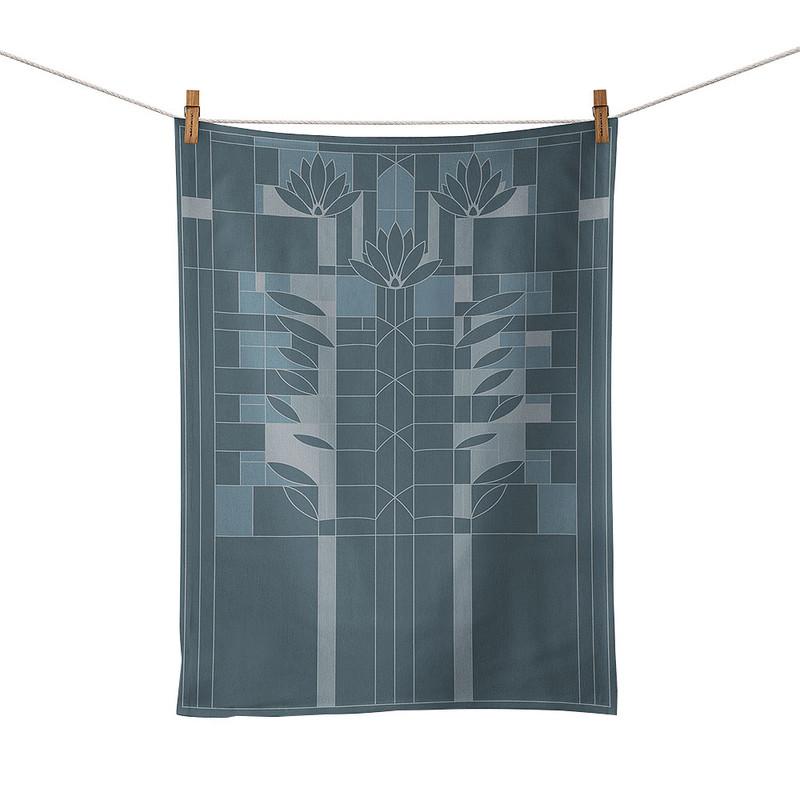 Frank Lloyd Wright Waterlilies Jacquard Tea Towel