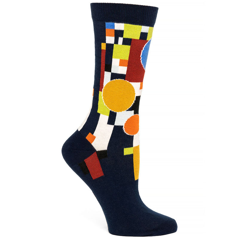 Frank Lloyd Wright Coonley Playhouse Women's Socks - Navy