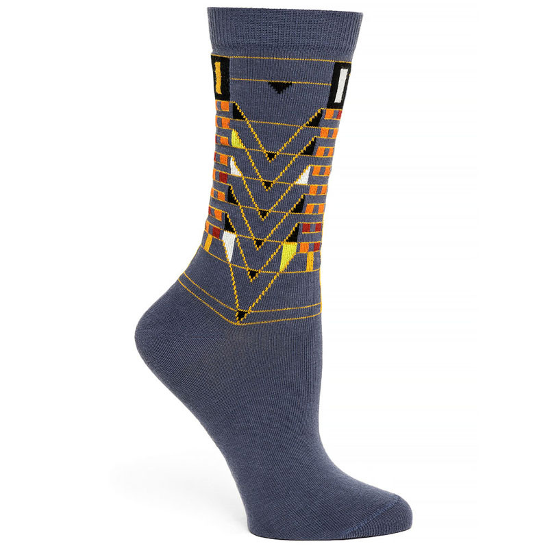 Frank Lloyd Wright Women's Socks Tree of Life - Grey