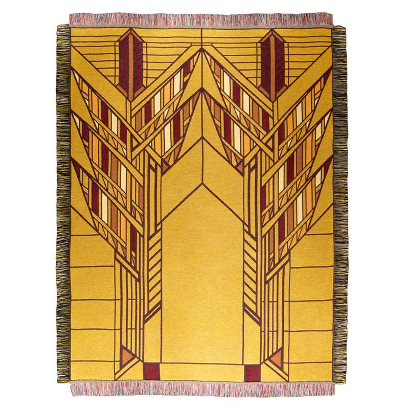 Frank Lloyd Wright Dana Sumac Tapestry Throw