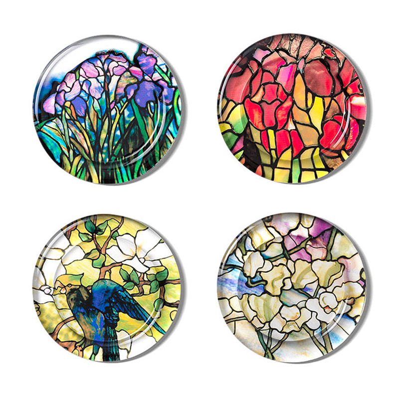 Louis C. Tiffany Stained-Glass Coasters