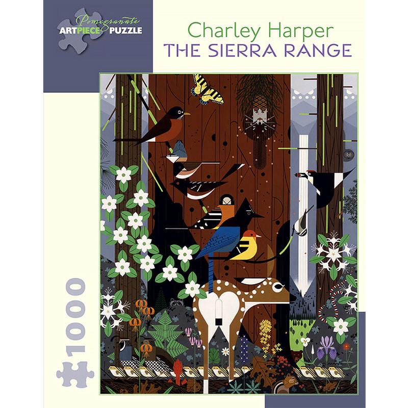 Charley Harper Sierra Range 1000 Piece Jigsaw Puzzle