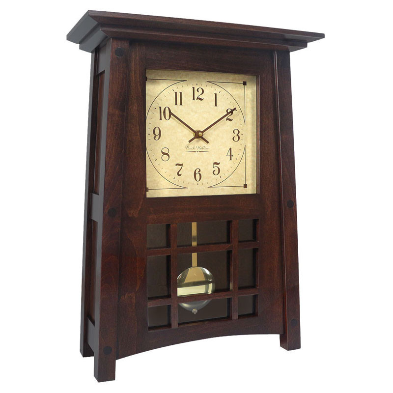 Amish McCoy Mantel Clock - Brown Maple