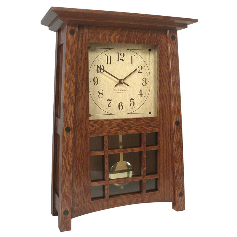 Amish McCoy Mantel Clock - Quarter Sawn Oak
