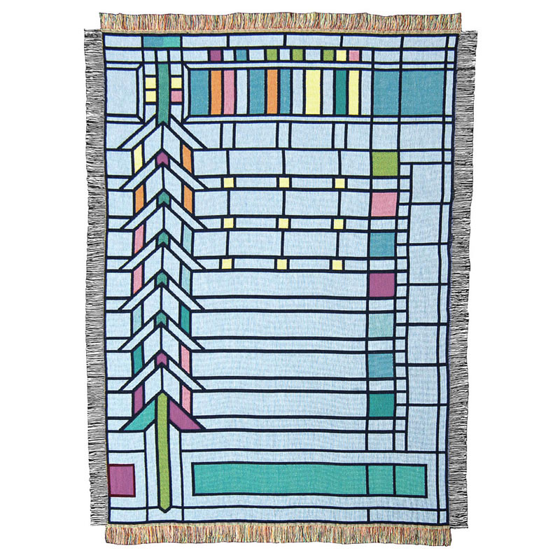 Frank Lloyd Wright Darwin D. Martin House Tapestry Throw