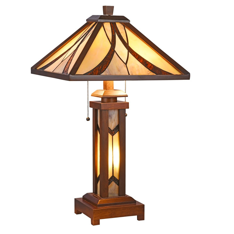Arts & Crafts Gordon Lighted Base Table Lamp