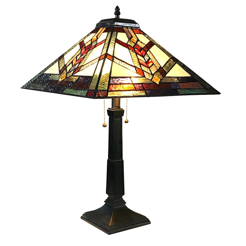 Arts & Crafts Wylie Stained Glass Table Lamp